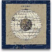 Globe Blue - 18x18