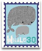 Animal Stamps - Whal...<span>Animal Stamps - Whale 8x10</span>