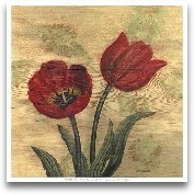 Tulip On Wood