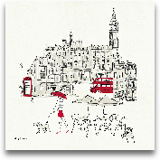 World Cafe I - Londo...<span>World Cafe I - London Red - 12x12</span>