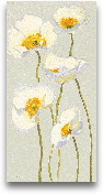 White On White Poppi...<span>White On White Poppies Panel II  - 12x24</span>