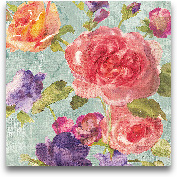 Watercolor Floral I ...<span>Watercolor Floral I On Grey - 12x12</span>