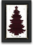 12x18 Merry And Brig...<span>12x18 Merry And Bright Plaid Christmas Tree Framed Art</span>