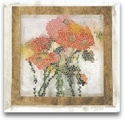 Mosaic Poppies I
