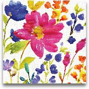 Floral Medley I - 18x18
