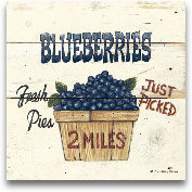 Blueberries Just Pic...<span>Blueberries Just Picked-6x6</span>