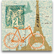 Postcard From Paris ...<span>Postcard From Paris Collage - 12x12</span>