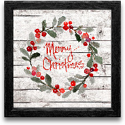 12x12 Merry Christma...<span>12x12 Merry Christmas Wreath Framed Art</span>