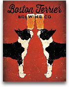 Boston Terrier Brewi...<span>Boston Terrier Brewing Co. - 11x14</span>