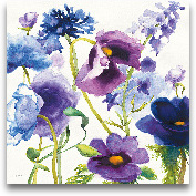 Blue And Purple Mixe...<span>Blue And Purple Mixed Garden I - 27x27</span>