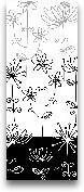 Black And White Gard...<span>Black And White Garden Panel I - 8x20</span>