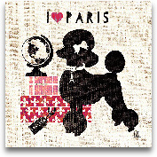 Paris Pooch - 12x12