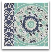 Blue Batik Tile III