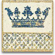Regal Crown Indigo A...<span>Regal Crown Indigo And Cream - 12x12</span>