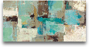 Teal And Aqua Reflec...<span>Teal And Aqua Reflections V2 - 48x24</span>