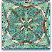 Tuscan Tile Blue Gre...<span>Tuscan Tile Blue Green II - 12x12</span>