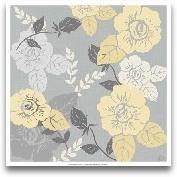 Yellow Roses On Grey II