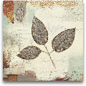 Silver Leaves II - 12x12