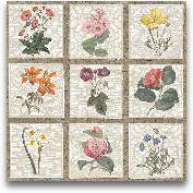 Monument Etching Til...<span>Monument Etching Tile Flowers Square II - 18x18</span>