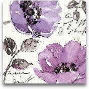 Floral Waltz Plum II...<span>Floral Waltz Plum II - 18x18</span>