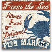 Fresh Seafood IV - 12x12