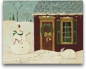 House With Snowman
