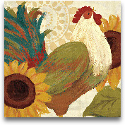 Spice Roosters I - 12x12