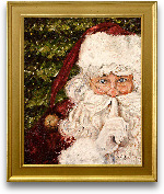 16x20 Secret Santa F...<span>16x20 Secret Santa Framed Art - Gold Frame</span>