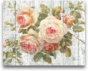 Vintage Roses On Dri...<span>Vintage Roses On Driftwood - 28x22</span>