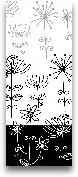 Black And White Gard...<span>Black And White Garden Panel II - 8x20</span>