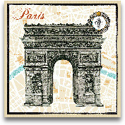 Monuments Des Paris ...<span>Monuments Des Paris Arc - 12x12</span>