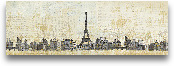 Eiffel Skyline - 36x12