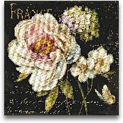 Marche De Fleurs On ...<span>Marche De Fleurs On Black - 35x35</span>