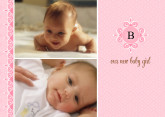 5x7 Card: Our New Baby Girl