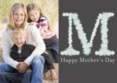 Floral Letter M For Mom