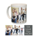 Ceramic Mug/White With Two Photo Collage And Text