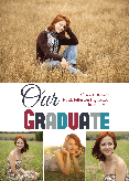 Graduation Announcement Photo Card - Collage 4 Photo