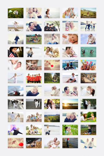 55 Photo Poster Collage 24x36 - Light Grey