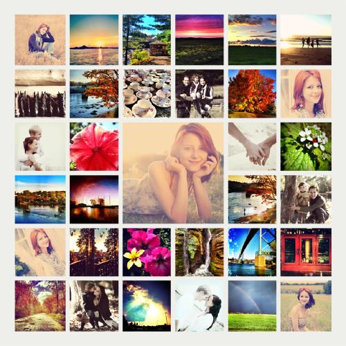 33 Photo Poster Collage 12x12 - Cream