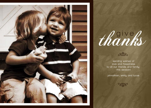 5x7 Card: Give Thanks