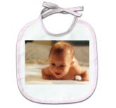 Baby Bib (pink Trim)