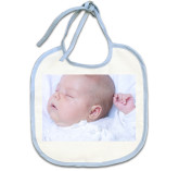Baby Bib (Blue Trim)