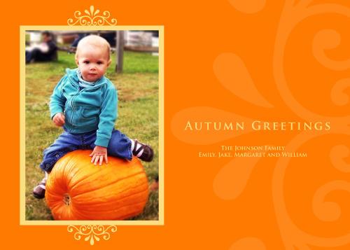 5x7 Card: Autumn Greetings