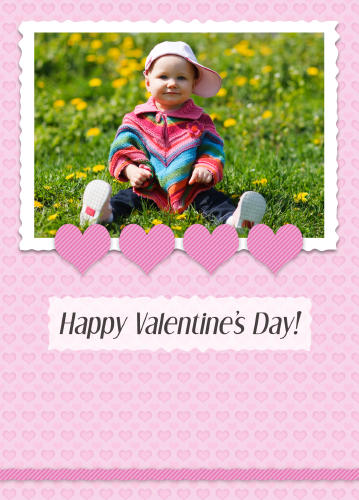 5x7 Card: Happy Valentine