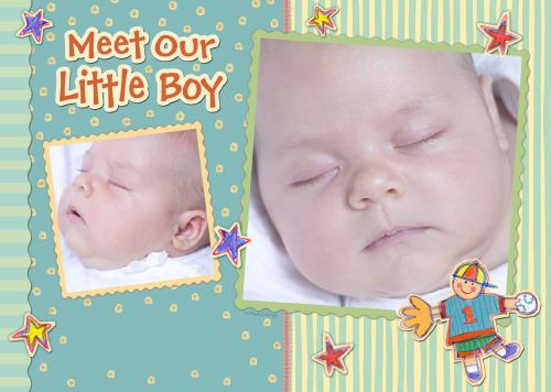 5x7 Card: Meet Our Little Boy
