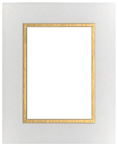 White/Gold 8x10