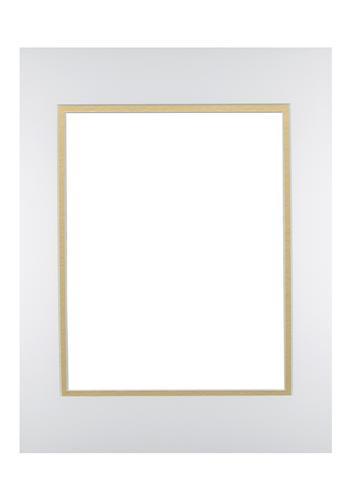 White/Gold 11x14