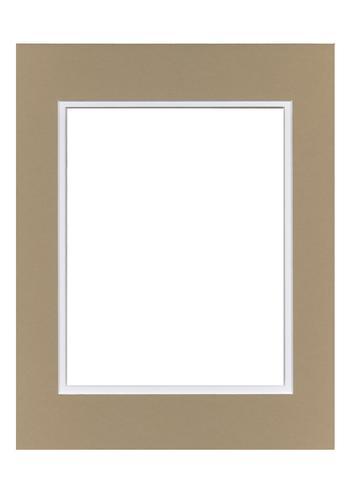 Tan/White 11x14