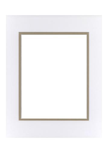 White/Tan 11x14