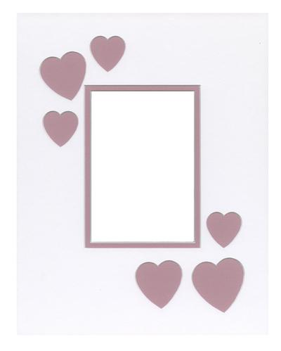 Hearts light Pink 11x14
